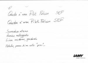 Scrittura Pilot Falcon