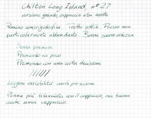 Test di scrittura di una Chilton Long Island 27