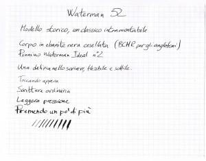 Esempio scrittura Waterman 52