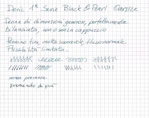 Test Scrittura Doric Black & Pearl