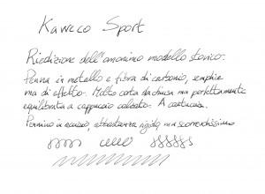 Esempio di scrittura Kaweco AC Sport