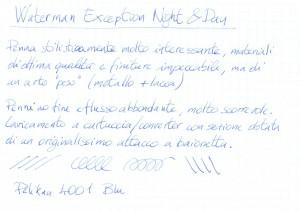 Esempio di Scrittura Waterman Exception