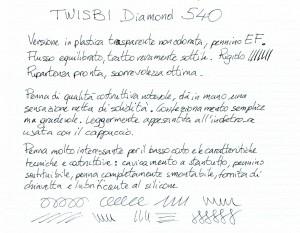 Test scrittura Twisbi Diamond 540