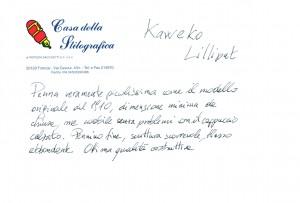 Test scrittura Kaweco Lilliput
