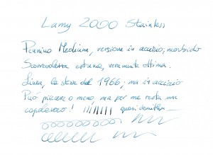 Lamy 2000 Steinless Steel