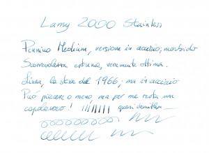 Lamy 2000 Steinless Steel