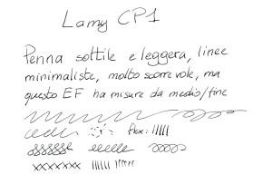 Lamy CP1 - Test scrittura
