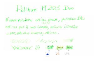 Test scrittura Pelikan 205 Duo