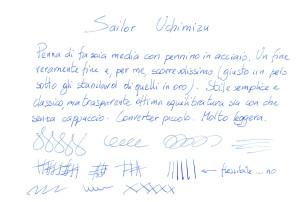 Test scrittura Sailor Uchimizu