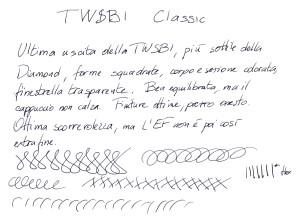 Test scrittura Twsbi Classic